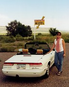 Sandi and the 1992 Alfa Romeo Spider Veloce