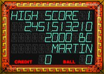 My Loony Labyrinth High Score Display