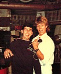 With Pat Sharp from Sky Channel, London, 1983
